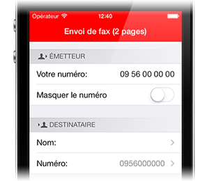FreeboxFax pour iPhone